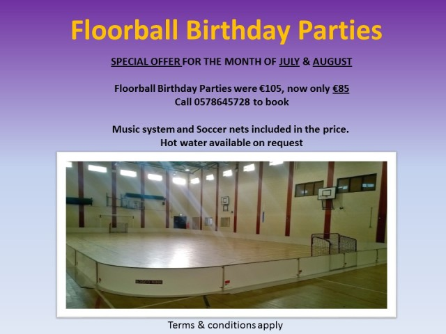 floorball birthday parties special offer