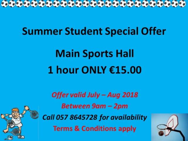 summer Break Student Special Offer